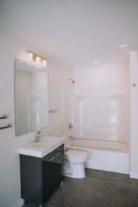 custom home bathroom showroom