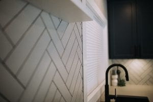 herringbone tile installation