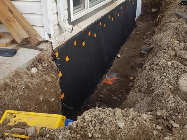 One of the trenching projects for homeowners in Kamloops