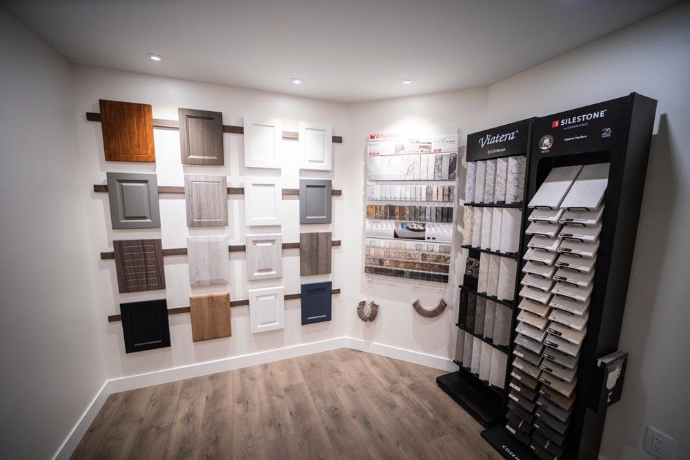Kamloops renovation and home builder showroom material