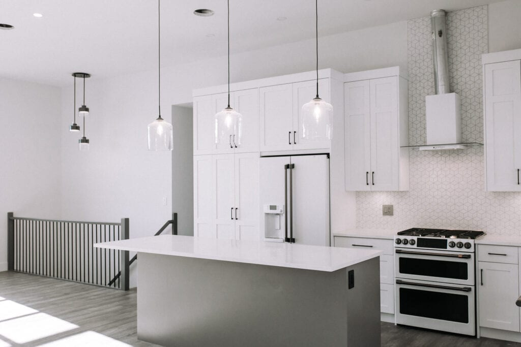 A fully renovated kitchen in Kamloops