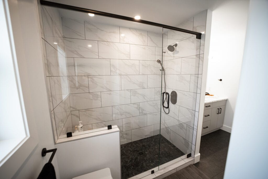 one of our bathroom shower renovation project in Kamloops